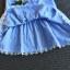 ชุดกระโปรง สีน้ำเงิน แพ็ค 5ชุด ไซส์ 100-110-120-130-140 thumbnail 5