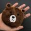 กระเป๋าใส่เหรียญ น่ารัก ขนาดกลาง หมีสีน้ำตาล thumbnail 1