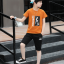 เสื้อ+กางเกง สีช็อคโกแลต แพ็ค 5 ชุด ไซส์ 130-140-150-160-170 (เลือกไซส์ได้) thumbnail 3