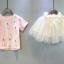 เสื้อ+กระโปรง แพ็ค 5ชุด ไซส์ 100-110-120-130-140 thumbnail 2