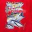 สกรีนลายปลาลงบนเสื้อสีแดง สำหรับทีมงานบ่อปลา thumbnail 1