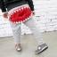 กางเกงขายาวสีเทาแต่งซิปปากฉลามตรงก้น แพ็ค 4 ชิ้น [size 2y-4y-5y-6y] thumbnail 1