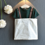 เสื้อ+เอี๊ยมกระโปรง สีเขียว แพ็ค 5ชุด ไซส์ 100-110-120-130-140 thumbnail 2