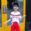 เสื้อ+กางเกง สีแดง แพ็ค 6 ชุด ไซส์ 110-120-130-140-150-160 (เลือกไซส์ได้) thumbnail 4