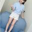 เสื้อ สีฟ้า แพ็ค 5 ชุด ไซส์ 110-120-130-140-150 (เลือกไซส์ได้) thumbnail 2