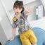 เสื้อ+กางเกง สีเหลือง แพ็ค 6 ชุด ไซส์ 110-120-130-140-150-160 (เลือกไซส์ได้) thumbnail 2