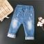 กางเกงยีนส์แต่งลูกไม้ที่ปลายขา แพ็ค 5 ชิ้น [size 2y-3y-4y-5y-6y] thumbnail 2