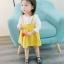 ชุดเดรสแขนยาวกระโปรงสีเหลือง [size 6m-1y-18m-2y-3y] thumbnail 4