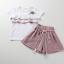 เสื้อ+กางเกง สีชมพู แพ็ค 5 ชุด ไซส์ 120-130-140-150-160 (เลือกไซส์ได้) thumbnail 5