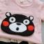 ชุดเซตลายหมีคุมะสีชมพูอ่อน แพ็ค 4 ชุด [size 6m-1y-2y-3y] thumbnail 2