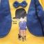 ชุดเซตเสื้อกั๊กแขนยาวลายเด็กผู้ชายสีเหลือง แพ็ค 4 ชุด [size 1y-2y-3y-4y] thumbnail 2