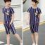 เสื้อ+กางเกง สีน้ำเงิน แพ็ค 5 ชุด ไซส์ 130-140-150-160-170 (เลือกไซส์ได้) thumbnail 7