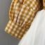 ชุดเดรสแขนยาวลายสก็อตสีเหลืองพร้อมสายสะพาย แพ็ค 4 ชุด [size 6m-1y-18m-2y] thumbnail 6