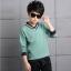 เสื้อ+กางเกง สีเขียว แพ็ค 4 ชุด ไซส์ 120-130-140-150 (เลือกไซส์ได้) thumbnail 4