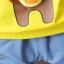 ชุดเซตแขนยาวสีเหลืองลายบราวน์กับซัลลี่ แพ็ค 3 ชุด [size 2y-3y-4y] thumbnail 3