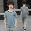เสื้อ+กางเกง สีฟ้า แพ็ค 5 ชุด ไซส์ 120-130-140-150-160 (เลือกไซส์ได้) thumbnail 1