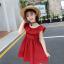 ชุดกระโปรง สีแดง แพ็ค 5 ชุด ไซส์ 110-120-130-140-150 (เลือกไซส์ได้) thumbnail 4
