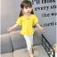 ชุดเซตเสื้อสีเหลือง+กางเกงสีขาว แพ็ค 5 ชุด [size 6m-1y-18m-2y-3y] thumbnail 2
