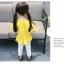 ชุดเซตเสื้อสีเหลือง+กางเกงสีขาว แพ็ค 5 ชุด [size 6m-1y-18m-2y-3y] thumbnail 4