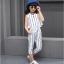 เสื้อ+กางเกง สีน้ำเงิน แพ็ค 5 ชุด ไซส์ 130-140-150-160-170 (เลือกไซส์ได้) thumbnail 1