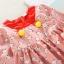 ชุดเดรสแขนยาวลายน้องแมวสีแดง แพ็ค 4 ชุด [size 3y-4y-5y-6y] thumbnail 3