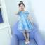 ชุดกระโปรง สีฟ้า แพ็ค 6 ชุด ไซส์ 110-120-130-140-150-160 thumbnail 1