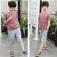 เสื้อ+กางเกง สีน้ำตาล แพ็ค 5 ชุด ไซส์ 130-140-150-160-170 (เลือกไซส์ได้) thumbnail 4