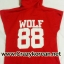 [พร้อมส่ง] เสื้อฮู้ดแขนกุดกว้าง EXO WOLF 88 (สีแดง) thumbnail 7