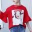 เสื้อ สีแดง แพ็ค 6 ชุด ไซส์ 110-120-130-140-150-160 (เลือกไซส์ได้) thumbnail 3
