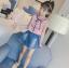 เสื้อ+กระโปรง สีชมพู แพ็ค 5 ชุด ไซส์ 120-130-140-150-160 (เลือกไซส์ได้) thumbnail 3