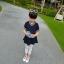 เสื้อตัวยาวสีกรมท่าแต่งหัวใจที่หน้าอก [size 2y-3y-4y-5y-6y] thumbnail 3
