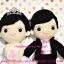 ตุ๊กตาแต่งงาน เจ้าบ่าวเจ้าสาว 9 นิ้ว แบบ4 thumbnail 3