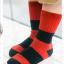 ถุงเท้าสั้น สีแดงดำ แพ็ค 12 คู่ ไซส์ ประมาณ 3-5 ปี thumbnail 1
