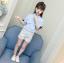 เสื้อ สีฟ้า แพ็ค 5 ชุด ไซส์ 110-120-130-140-150 (เลือกไซส์ได้) thumbnail 3