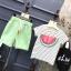ชุดเซตลายแตงโมสีเขียว แพ็ค 5 ชุด [size 2y-3y-4y-5y-6y] thumbnail 2