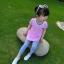 เสื้อตัวยาวสีชมพูแต่งหัวใจที่หน้าอก [size 2y-3y-4y-5y-6y] thumbnail 1