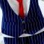 ชุดเซตแขนยาวเสื้อกั๊กสีน้ำเงินเนคไทน์สีแดง แพ็ค 4 ชุด [size 6m-1y-2y-3y] thumbnail 2