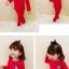 ชุดเซตแขนยาวสีแดงลายมิกกี้ที่หน้าอก แพ็ค 4 ชุด [size 1y-2y-3y-4y] thumbnail 2