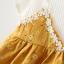 ชุดเดรสลายดอกไม้สีเหลือง แพ็ค 4 ชุด [size 6m-1y-18m-2y] thumbnail 4