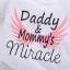 ชุดเซต 4 ชิ้นลาย daddy&mommy's miracle แพ็ค 4 ชุด [size 3m-6m-1y-2y] thumbnail 3