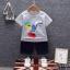 ชุดเซตเสื้อลายขวางสีขาว+กางเกงสียีนส์เข้ม แพ็ค 4 ชุด [size 6m-1y-2y-3y] thumbnail 1