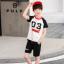 เสื้อ+กางเกง สีดำ แพ็ค 5 ชุด ไซส์ 90-100-110-120-130 (เลือกไซส์ได้) thumbnail 1