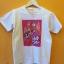เสื้อยืดสีขาว สกรีนการ์ตูนลายสีชมพู ด้วยระบบดิจิตอล thumbnail 1