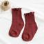 ถุงเท้ายาว สีแดง แพ็ค 12คู่ ไซส์ S (ประมาณ 1-3 ปี) thumbnail 1