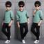 เสื้อ+กางเกง สีเขียว แพ็ค 4 ชุด ไซส์ 120-130-140-150 (เลือกไซส์ได้) thumbnail 3