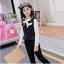 เสื้อกั๊ก+เสื้อตัวใน+กางเกง สีดำ แพ็ค 5 ชุด ไซส์ 120-130-140-150-160 (เลือกไซส์ได้) thumbnail 2