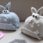 หมวกเด็กลายกระต่ายสีเทา thumbnail 2