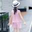 เสื้อ+กางเกง สีชมพู แพ็ค 6 ชุด ไซส์ 110-120-130-140-150-160 (เลือกไซส์ได้) thumbnail 4
