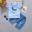 เสื้อ+กางเกง สีฟ้า แพ็ค 4 ชุด ไซส์ 80-90-100-110 thumbnail 1