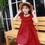 ชุดกระโปรง สีแดง แพ็ค 5 ชุด ไซส์ 110-120-130-140-150 (เลือกไซส์ได้) thumbnail 2